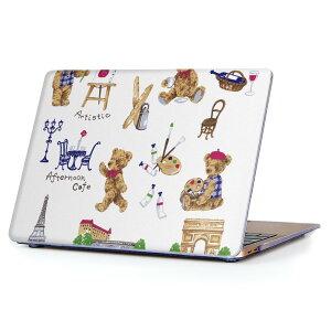 MacBook Air 13inch 2010  2017 専用 デザインハードケース A1466 A1369 Apple マックブック エア ノートパソコン カバー ケース ハードカバー クリア 透明 013287 くま エッフェル塔 かわいい