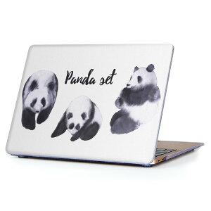 MacBook Air 13inch 2010  2017 専用 デザインハードケース A1466 A1369 Apple マックブック エア ノートパソコン カバー ケース ハードカバー クリア 透明 014786 パンダ 動物 かわいい