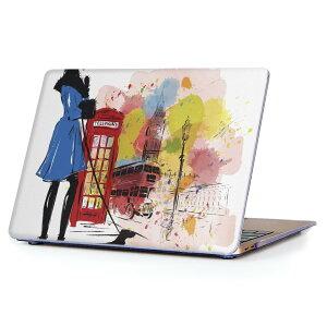MacBook Air 13inch 2010  2017 専用 デザインハードケース A1466 A1369 Apple マックブック エア ノートパソコン カバー ケース ハードカバー クリア 透明 014903 イラスト ロンドン 街