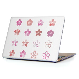 MacBook Air 13inch 2010  2017 専用 デザインハードケース A1466 A1369 Apple マックブック エア ノートパソコン カバー ケース ハードカバー クリア 透明 015423 桜 ピンク かわいい 花 植物
