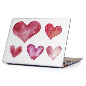 MacBook Air 13inch 2010  2017 専用 デザインハードケース A1466 A1369 Apple マックブック エア ノートパソコン カバー ケース ハードカバー クリア 透明 015562 ハート ピンク かわいい