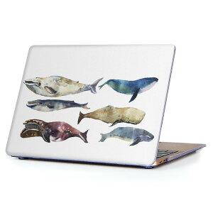 MacBook Air 13inch 2010 〜 2017 専用 デザインハードケース A1466 A1369 Apple マックブック エア ノートパソコン カバー ケース ハードカバー クリア 透明 015833 魚 海 くじら シャチ