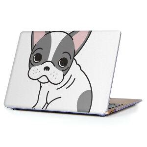 MacBook Air 13inch 2010  2017 専用 デザインハードケース A1466 A1369 Apple マックブック エア ノートパソコン カバー ケース ハードカバー クリア 透明 016081 犬 かわいい ブルドック