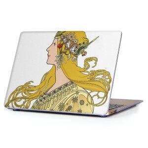 MacBook Air 13inch 2010 〜 2017 専用 デザインハードケース A1466 A1369 Apple マックブック エア ノートパソコン カバー ケース ハードカバー クリア 透明 016250 女の人 イラスト
