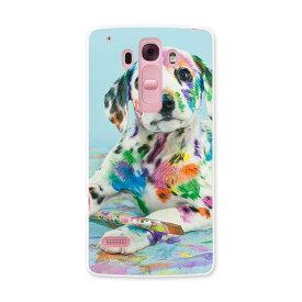 DM-01G Disney Mobile ディズニーモバイル dm01g docomo ドコモ スマホ カバー ケース スマホケース スマホカバー PC ハードケース 写真 カラフル ペンキ 犬 インク アニマル 008181