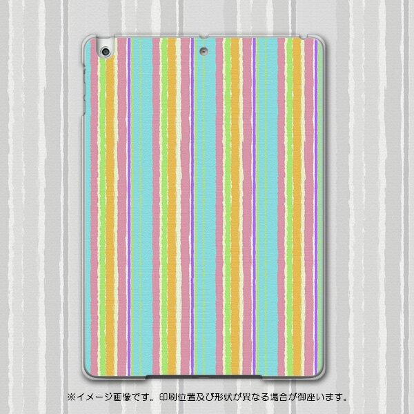 iPadair iPadair アイパッドエア softbank ソフトバンク スマホ カバー 全機種対応 あり スマホケース ハード pc ケース ハードケース しましま 模様 カラフル チェック・ボーダー 004733