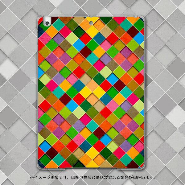 iPadair アイパッドエア ipad air softbank ソフトバンク スマホ カバー 全機種対応 あり ケース スマホケース スマホカバー PC ハードケース カラフル 模様 チェック・ボーダー 005711