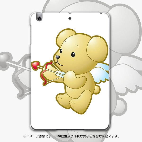 iPadmini iPad mini アイパッドミニ softbank ソフトバンク スマホ カバー 全機種対応 あり ケース スマホケース スマホカバー PC ハードケース クマ 天使 羽 アニマル 001229