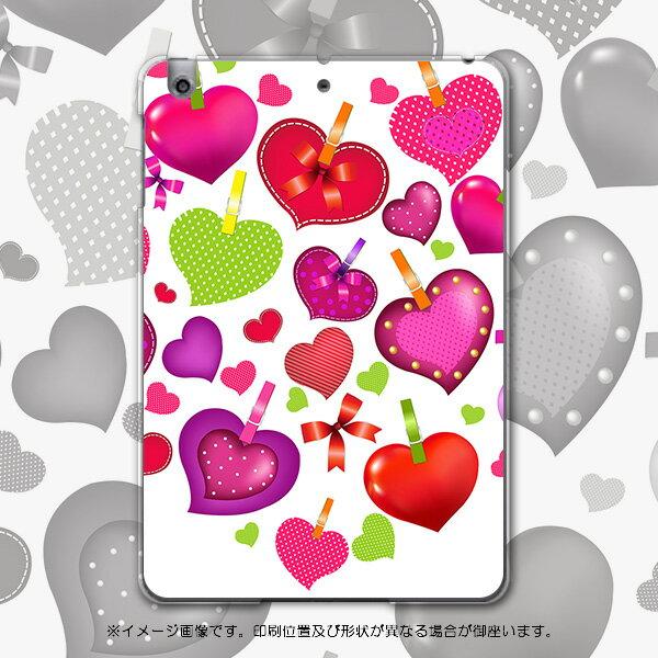 iPadmini iPad mini アイパッドミニ softbank ソフトバンク スマホ カバー 全機種対応 あり ケース スマホケース スマホカバー PC ハードケース ハート リボン 赤 ラブリー 002389