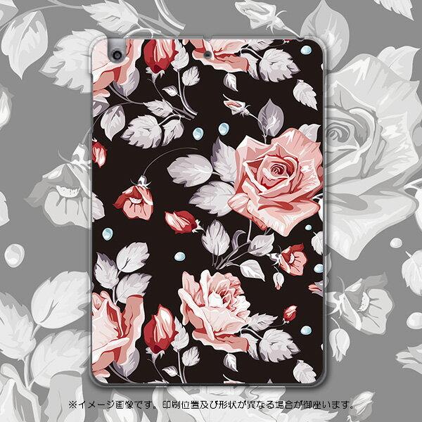 iPadmini iPad mini アイパッドミニ softbank ソフトバンク スマホ カバー 全機種対応 あり ケース スマホケース スマホカバー PC ハードケース 花 バラ 黒 フラワー 004179