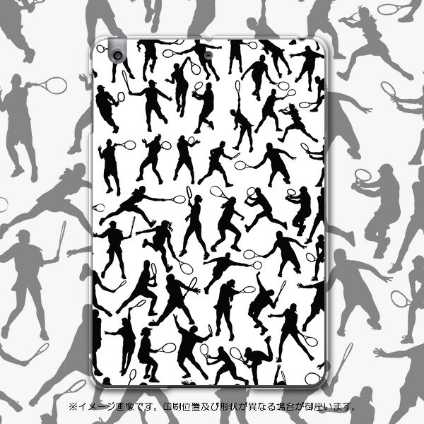 iPadmini iPad mini アイパッドミニ softbank ソフトバンク スマホ カバー 全機種対応 あり ケース スマホケース スマホカバー PC ハードケース テニス イラスト スポーツ 004831