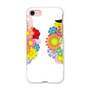 iphone8 iphone 8 アイフォーン softbank ソフトバンク スマホ カバー スマホケース スマホカバー TPU ソフトケース 008567 花 フラワー ひつじ 羊 カラフル