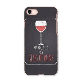 iphone8 iphone 8 アイフォーン softbank ソフトバンク スマホ カバー スマホケース スマホカバー PC ハードケース 010426 ワイン お酒 英語
