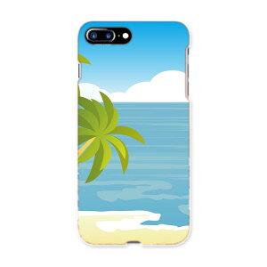 iphone7plus phone 7 plus APPLE softbank ソフトバンク スマホ カバー ケース スマホケース スマホカバー TPU ソフトケース 001427 海 やしの木 太陽