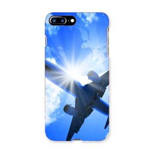 iphone7plus phone 7 plus APPLE softbank ソフトバンク スマホ カバー ケース スマホケース スマホカバー TPU ソフトケース 001574 飛行機 青空 地球