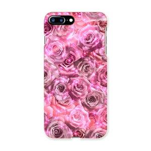 iphone7plus phone 7 plus APPLE softbank ソフトバンク スマホ カバー ケース スマホケース スマホカバー TPU ソフトケース 002745 花 フラワー ピンク
