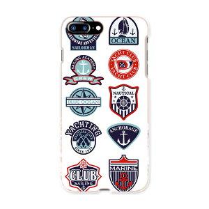 iphone8plus iphone 8 plus アイフォーン softbank ソフトバンク スマホ カバー スマホケース スマホカバー TPU ソフトケース 004514 マリン ワッペン イラスト