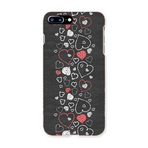 iphone7plus phone 7 plus APPLE softbank ソフトバンク スマホ カバー ケース スマホケース スマホカバー TPU ソフトケース 006374 ハート 模様