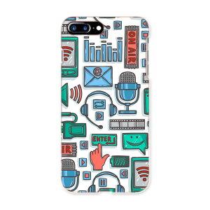 iphone7plus phone 7 plus APPLE softbank ソフトバンク スマホ カバー ケース スマホケース スマホカバー TPU ソフトケース 008787 青 緑 イラスト スタジオ