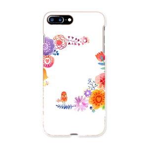 iphone7plus phone 7 plus APPLE softbank ソフトバンク スマホ カバー ケース スマホケース スマホカバー TPU ソフトケース 009647 フラワー 鳥 カラフル
