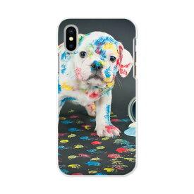 iphone XR iPhone 10r アイフォーン エックスアール テンアール iphonexr softbank docomo au スマホ カバー スマホケース スマホカバー PC ハードケース 008304 犬 写真 ペンキ インク カラフル