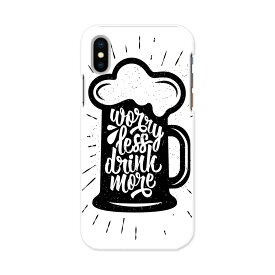 iphone XR iPhone 10r アイフォーン エックスアール テンアール iphonexr softbank docomo au スマホ カバー スマホケース スマホカバー PC ハードケース 014127 ビール お酒 文字