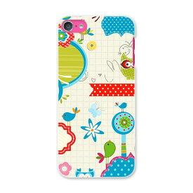 iPod touch 7(2019)/6(2015) アイポッドタッチ 第7世代 第6世代 対応 ケース スマホ カバー スマホケース スマホカバー PC ハードケース 002690 鳥 花 キャラクター