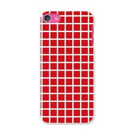 iPod touch 7(2019)/6(2015) アイポッドタッチ 第7世代 第6世代 対応 ケース スマホ カバー スマホケース スマホカバー PC ハードケース 004114 チェック 赤 白