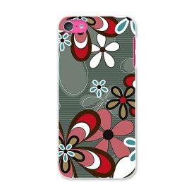 iPod touch 7(2019)/6(2015) アイポッドタッチ 第7世代 第6世代 対応 ケース スマホ カバー スマホケース スマホカバー PC ハードケース 005249 花 柄 グレー