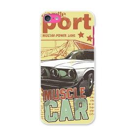 iPod touch 7(2019)/6(2015) アイポッドタッチ 第7世代 第6世代 対応 ケース スマホ カバー スマホケース スマホカバー PC ハードケース 006109 イラスト 車 レトロ 英語
