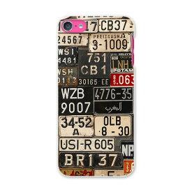 iPod touch 7(2019)/6(2015) アイポッドタッチ 第7世代 第6世代 対応 ケース スマホ カバー スマホケース スマホカバー PC ハードケース 008544 ナンバー プレート カラフル 写真