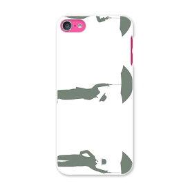 iPod touch 7(2019)/6(2015) アイポッドタッチ 第7世代 第6世代 対応 ケース スマホ カバー スマホケース スマホカバー PC ハードケース 009380 人物 イラスト モノクロ
