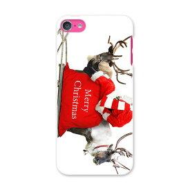 iPod touch 7(2019)/6(2015) アイポッドタッチ 第7世代 第6世代 対応 ケース スマホ カバー スマホケース スマホカバー PC ハードケース 009971 クリスマス サンタ 写真