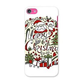 iPod touch 7(2019)/6(2015) アイポッドタッチ 第7世代 第6世代 対応 ケース スマホ カバー スマホケース スマホカバー PC ハードケース 010070 クリスマス サンタ 英語