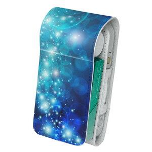 「宅配便専用」iQOS アイコス 専用 レザーケース 従来型 / 新型 2.4PLUS 両対応 タバコ ケース カバー 合皮 クリーナー 収納 アイコスケース デザイン 模様 青 000965