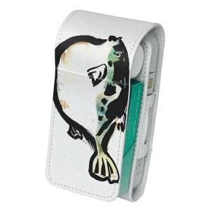 「宅配便専用」iQOS アイコス 専用 レザーケース 従来型 / 新型 2.4PLUS 両対応 タバコ ケース カバー 合皮 クリーナー 収納 アイコスケース デザイン 魚 ふぐ 001599