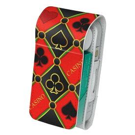 「宅配便専用」iQOS アイコス 専用 レザーケース 従来型 / 新型 2.4PLUS 両対応 タバコ ケース カバー 合皮 クリーナー 収納 アイコスケース デザイン カジノ クローバー 001603
