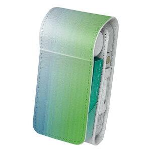 「宅配便専用」iQOS アイコス 専用 レザーケース 従来型 / 新型 2.4PLUS 両対応 タバコ ケース カバー 合皮 クリーナー 収納 アイコスケース デザイン シンプル 青 緑 001830