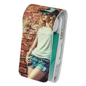 「宅配便専用」iQOS アイコス 専用 レザーケース 従来型 / 新型 2.4PLUS 両対応 タバコ ケース カバー 合皮 クリーナー 収納 アイコスケース デザイン 写真 人物 006918