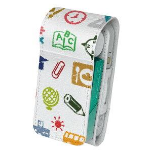 「宅配便専用」iQOS アイコス 専用 レザーケース 従来型 / 新型 2.4PLUS 両対応 タバコ ケース カバー 合皮 クリーナー 収納 アイコスケース デザイン イラスト カラフル こども 009278