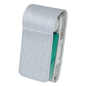 「宅配便専用」iQOS アイコス 専用 レザーケース 従来型 / 新型 2.4PLUS 両対応 タバコ ケース カバー 合皮 クリーナー 収納 アイコスケース デザイン 壁紙 白 シンプル 009689