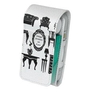 「宅配便専用」iQOS アイコス 専用 レザーケース 従来型 / 新型 2.4PLUS 両対応 タバコ ケース カバー 合皮 クリーナー 収納 アイコスケース デザイン おしゃれ ヴィンテージ 英語 010034