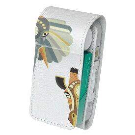 「宅配便専用」iQOS アイコス 専用 レザーケース 従来型 / 新型 2.4PLUS 両対応 タバコ ケース カバー 合皮 クリーナー 収納 アイコスケース デザイン 動物 キリン ゾウ 010203