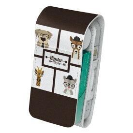 「宅配便専用」iQOS アイコス 専用 レザーケース 従来型 / 新型 2.4PLUS 両対応 タバコ ケース カバー 合皮 クリーナー 収納 アイコスケース デザイン 動物 犬 猫 キリン 010350