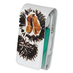 「宅配便専用」iQOS アイコス 専用 レザーケース 従来型 / 新型 2.4PLUS 両対応 タバコ ケース カバー 合皮 クリーナー 収納 アイコスケース デザイン 食べ物 絵 うに 013296
