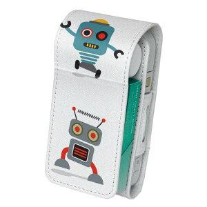 「宅配便専用」iQOS アイコス 専用 レザーケース 従来型 / 新型 2.4PLUS 両対応 タバコ ケース カバー 合皮 クリーナー 収納 アイコスケース デザイン ロボット 機械 013503