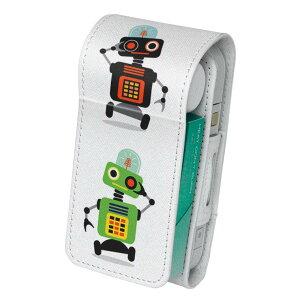 「宅配便専用」iQOS アイコス 専用 レザーケース 従来型 / 新型 2.4PLUS 両対応 タバコ ケース カバー 合皮 クリーナー 収納 アイコスケース デザイン ロボット 機械 013505