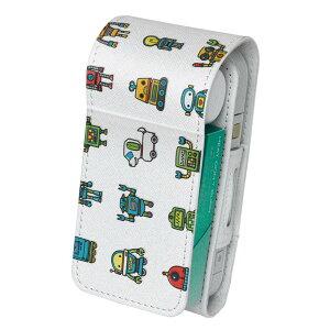 「宅配便専用」iQOS アイコス 専用 レザーケース 従来型 / 新型 2.4PLUS 両対応 タバコ ケース カバー 合皮 クリーナー 収納 アイコスケース デザイン ロボット 機械 013563