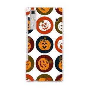 KYV37 Qua phone キュア フォン kyv37 au エーユー スマホ ケース スマホカバー PC ハードケース かぼちゃ アイコン 赤 レッド 模様 ユニーク 008538
