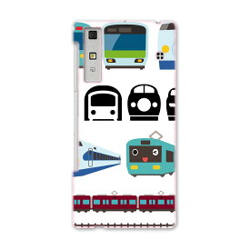 KYV37 Qua phone キュア フォン kyv37 au エーユー スマホ ケース スマホカバー PC ハードケース 乗り物 電車 こども 009587
